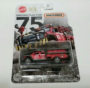 2020 Matchbox (82/100) FORD F-350 SUPERDUTY , Fire Rescue , new card