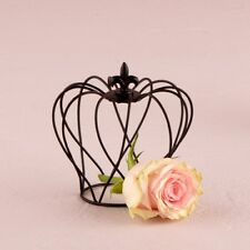 Table Decoration Crown Black Wire Party Favour 4 Pack