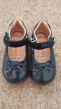 Niño Chicas Azul Patente Geox kaytan zapatos talla 21 (UK 4 1/2) NUEVO