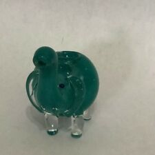 Teal 2.5 inch Elephant TOBACCO Smoking Herb bowl Glass Hand Pipes