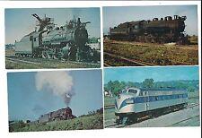 8 Vintage Audio Visual Design Train Locomotive Postcards