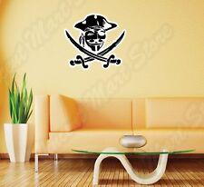 "V for Vendetta Anonymous Mask Pirate Wall Sticker Room Interior Decor 25""X22"""