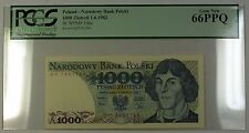 1.6.1982 Poland National Bank 1000 Zlotych Note SCWPM# 146c PCGS GEM New 66 PPQ