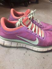 Nike Free Run Custom Pink Purple Pastel Running Shoe Women's 8.5