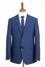 Mens Gibson Royal Blue Suit Tailored Fit 40L W34 L33