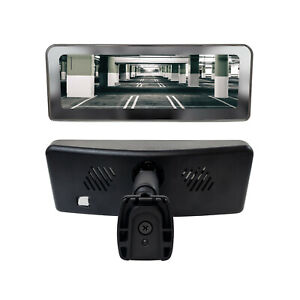 """Frameless Rear View Mirror with 7"""" LCD Screen and 4 Video Inputs + Two Cameras"""
