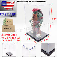 """US 12""""H Acrylic Display Case Plastic Self-Assembly Box Protection Toys Dustproof"""