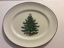 Cuthbertson Original Christmas Tree Traditional Oval Plate Made In England