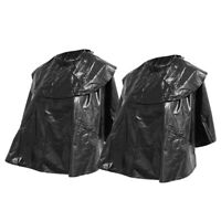 2x noir coupe de cheveux cap salon coiffeur coiffeur capes robes tablier