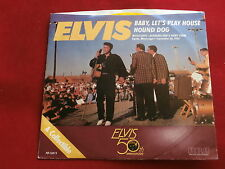 ELVIS PRESLEY~BABY LET'S PLAY HOUSE~HOUND DOG~YELLOW WAX~UNPLAYED STORE ~ POP 45