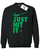Just Hit It CREWNECK Sweatshirt Just Hit It Weed Kush Marijuana 420 Sweater