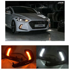 car White LED DRL Daytime Running Lights Day Lamp For Hyundai Elantra 2016-2017