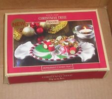 NEW SPODE Peppermint Candy Tray Christmas Tree Holiday NEW NWT