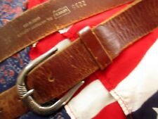34 Medium True Vintage 90s Levi'S Harness Leather Rustic Preppt Buckle Belt Usa