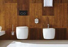 Komplett Set Hänge Wand Toilette WC mit Soft Close Sitz + Hänge Wand Bidet