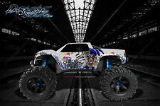"TRAXXAS X-MAXX GRAPHICS WRAP DECALS ""LUCKY"" BLUE"