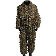 3D Leafy Ghillie Suit Woodland Camouflage Outdoor Games Hunting Camo Coat Pants