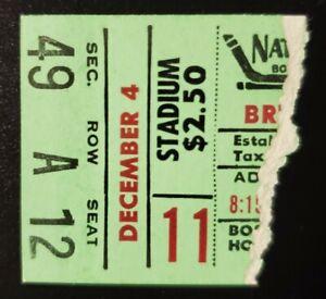 Boston Bruins Montreal Canadiens Hockey Ticket Stub 12/4 1949 Maurice Richard G