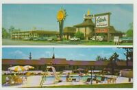 Unused Postcard Quality Inn Clarks and Restaurant Santee SC Swimming Pool