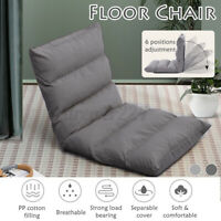 6-Position Folding Lazy Sofa Gaming Chair Floor Cushioned Seat Independent Liner
