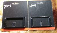 GIBSON Les Paul Black Pickup Rings Set Humbucker Mounting Guitar Genuine