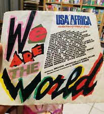 USA FOR AFRICA - WE ARE THE WORLD - 7 inch 45rpm VINYL RECORD - FAST POST