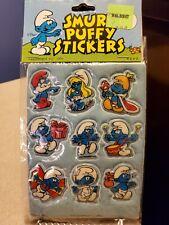 Smurf Puffy Stickers-1980
