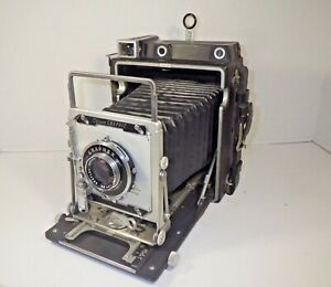 1965 GRAFLEX CROWN GRAPHIC 4x5 LARGE FORMAT PRESS CAMERA OPTAR 135MM f/4.7 lens