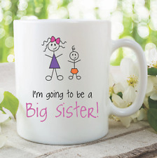 Big Brother Mugs I'm Going To Be A Big Sister New Baby Shower Coffee WSDMUG903
