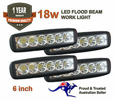 4x 6inch 18W LED Light Bar Driving Lamp Flood Truck Offroad UTE 4WD Work Spot