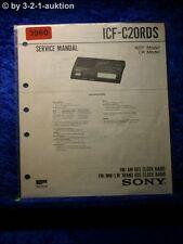 Sony service manual ICF c20rds clock radio (#3960)