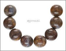 8 Large Red Brown Pietersite Round Beads 16mm  #77057