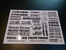 1/10 drift rc car stikers decals 2 pcs !