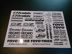 1/10 drift rc car stikers decals 2 pcs !