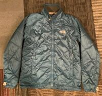 Women's North Face jacket Turquoise Blue insulated Medium Quilted