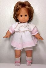 "1980's Cute Zapf 15"" Soft Body Doll ~ Brown Eyes ~ Knitted Outfit ~ West Germany"