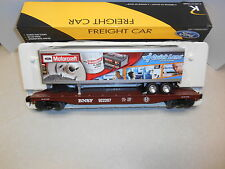 K-Line #22539 Ford Motorcraft Trailer and BNSF Scale Flat Car