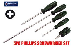 BRITOOL HALLMARK 5PC PHILLIPS / PH / CROSS HEAD  SCREWDRIVER SET