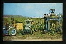 Industry postcard Farming Grape Picking farming equipment tractor