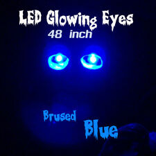 LED GLOWING EYES - HALLOWEEN BLUE 5MM 9V ON/OFF SWITCH  48 inch pigtail