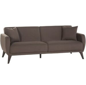 BELLONA Sleeper Sofa bed in A Box - Brown Fabric