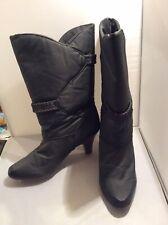 Jero's Womens Fleece Lined High Heel Rain Snow Boots