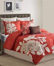 Sunham Bedding Stella 8 Piece Queen Comforter Set Red MSRP $260 B329