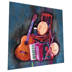 "Irish Musical instruments ""Awaiting The Players "" Wall Art - Graphic Art Poster"