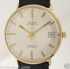 A. Lange & Söhne automático 14ct Gold 1950er muy raras de Pforzheim!