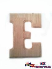 "Large Oak Wood Alphabet Letter ""E"" Natural Brown Uppercase Home Decor Art Craft"
