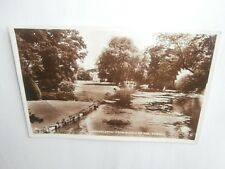 Broadlands Romsey Hampshire the Middle Bridge - 1958 real photo postcard