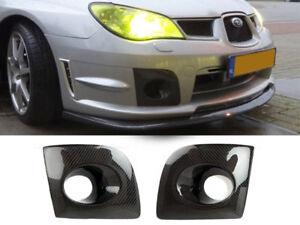 Lower Bumper Carbon Fiber Fog Light Cover For Subaru Impreza WRX STi