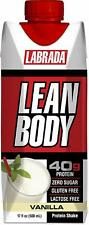 LABRADA - Lean Body Ready To Drink Whey Protein Shake, Vanilla (Pack of 12)