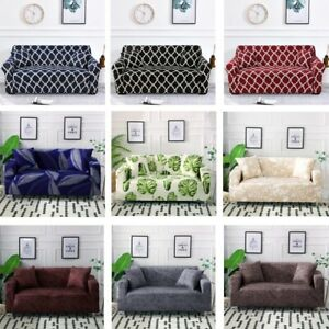 Printed Sofa Covers Stretch Spandex Couch Cover 1 2 3 4 Seater for Living Room